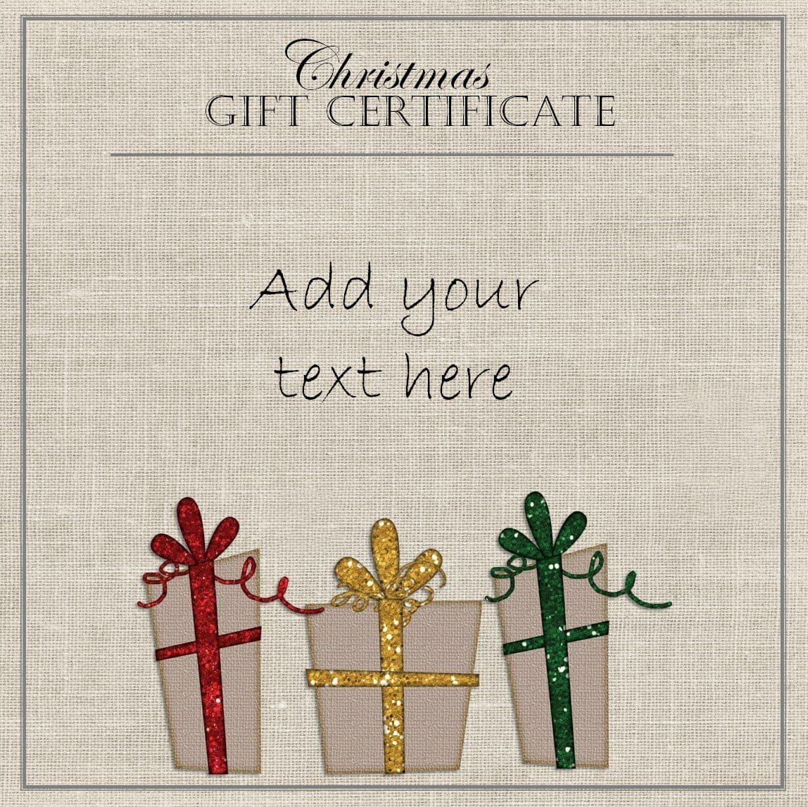 Free Christmas Gift Certificate Template  Customize Online  Download Regarding Christmas Gift Certificate Template Free Download