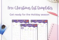 Free Christmas List Templates  An Excel Version  Curious And Geeks pertaining to Christmas Card List Template