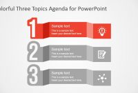 Free Colorful Three Topics Agenda For Powerpoint  Slidemodel intended for Replace Powerpoint Template