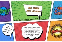 Free Comic Book Powerpoint Template For Download  Slidebazaar with Powerpoint Comic Template