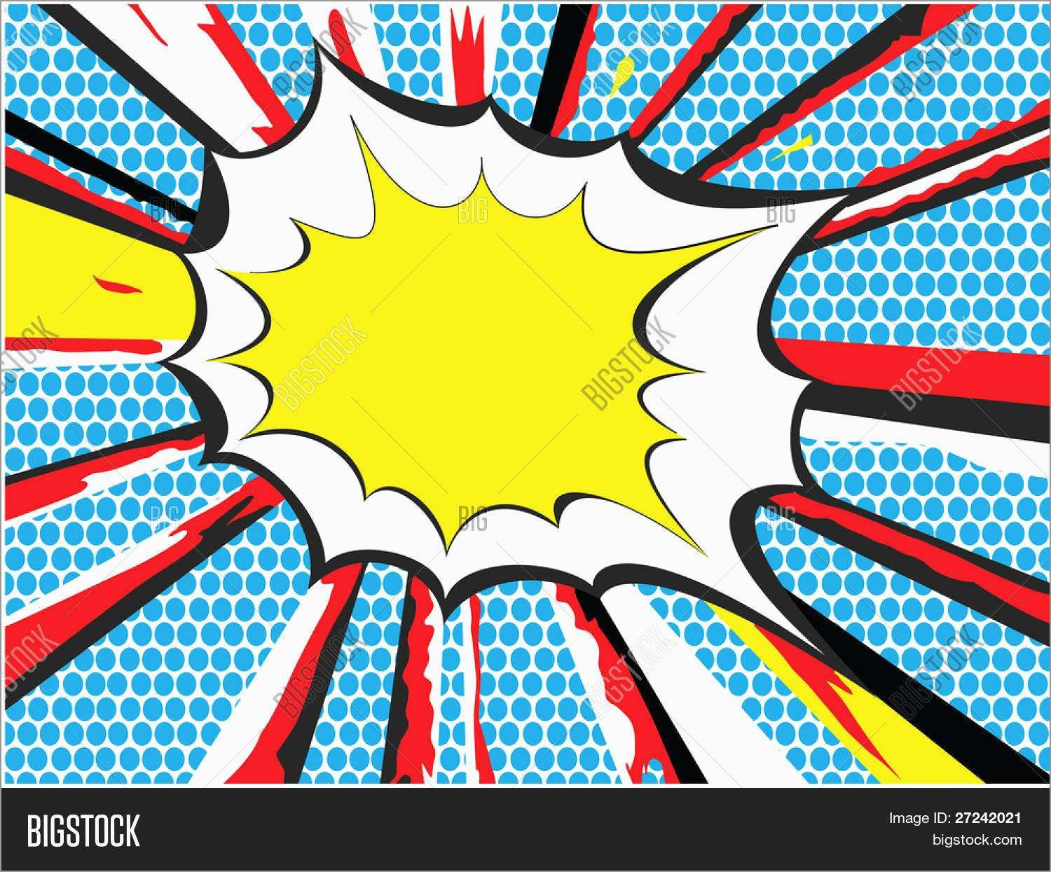 Free Comic Book Style Powerpoint Template Best Explosions Clipart In Comic Powerpoint Template