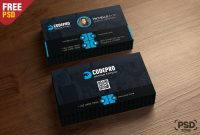 Free Corporate Business Card Template Psd  Download Psd throughout Name Card Template Psd Free Download