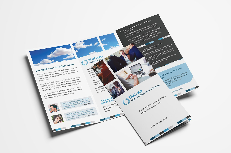 Free Corporate Trifold Brochure Template Tri Fold Exceptional Inside Tri Fold Brochure Publisher Template