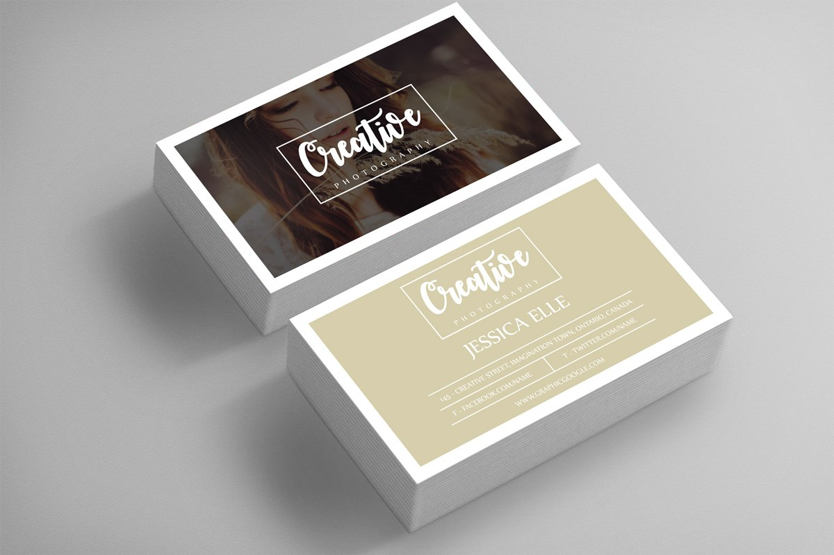 Free Creative Photography Business Card Design Template On Behance Within Free Business Card Templates For Photographers