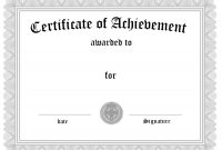Free Customizable Certificate Of Achievement with regard to Generic Certificate Template