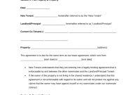 Free Delaware Roommate Room Rental Agreement Template  Pdf  Word inside Landlord Lodger Agreement Template