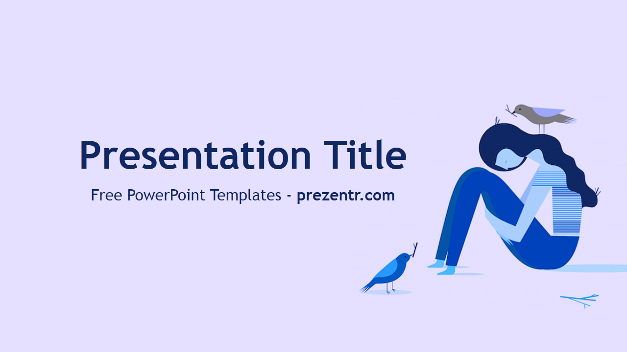 Free Depression Powerpoint Template  Prezentr Powerpoint Templates For Depression Powerpoint Template