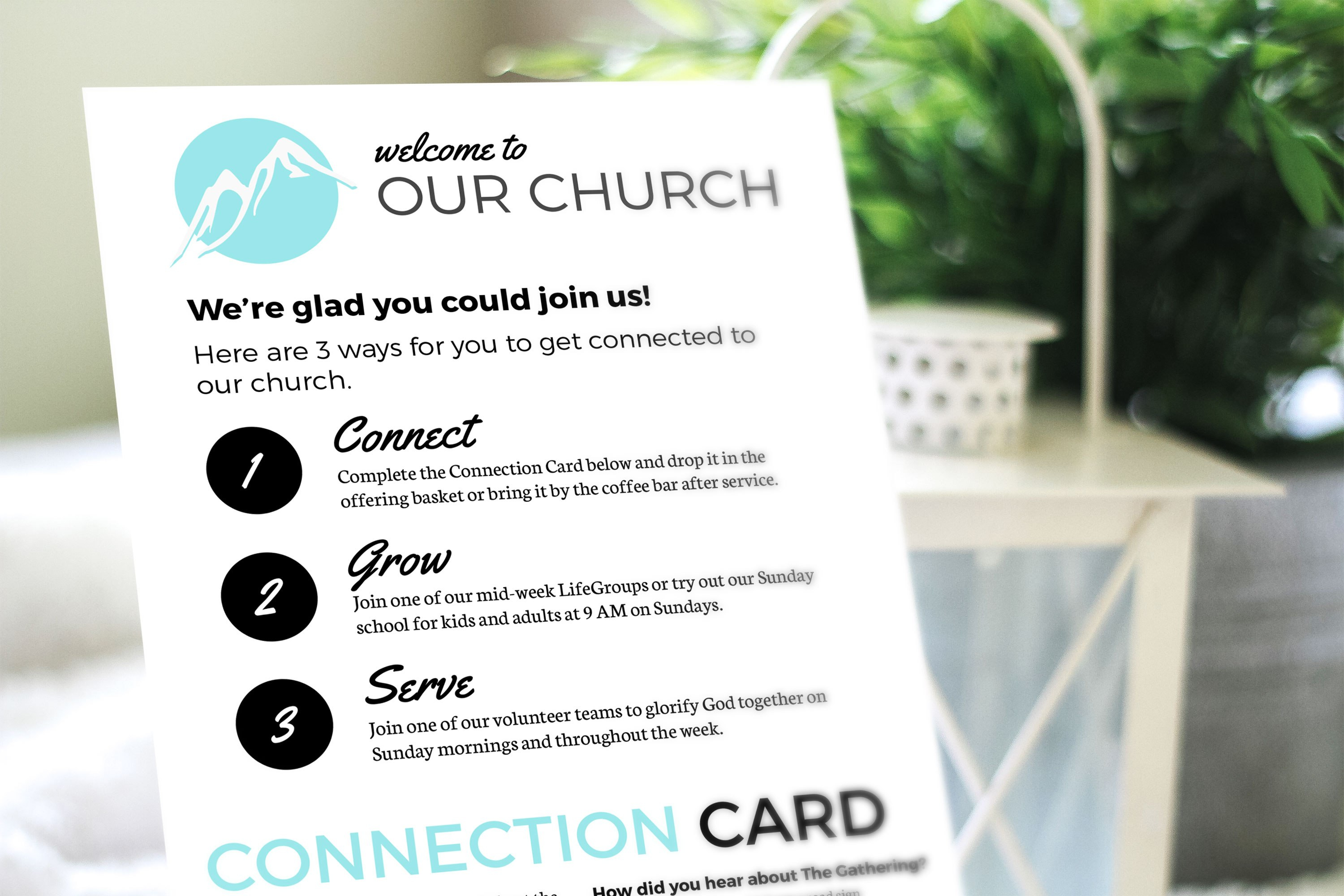 Free Design Template Connection Card – Churchly In Church Visitor Card Template Word