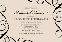 Free Dinner Invitation Templates For Word Template Amazing Ideas within Free Dinner Invitation Templates For Word