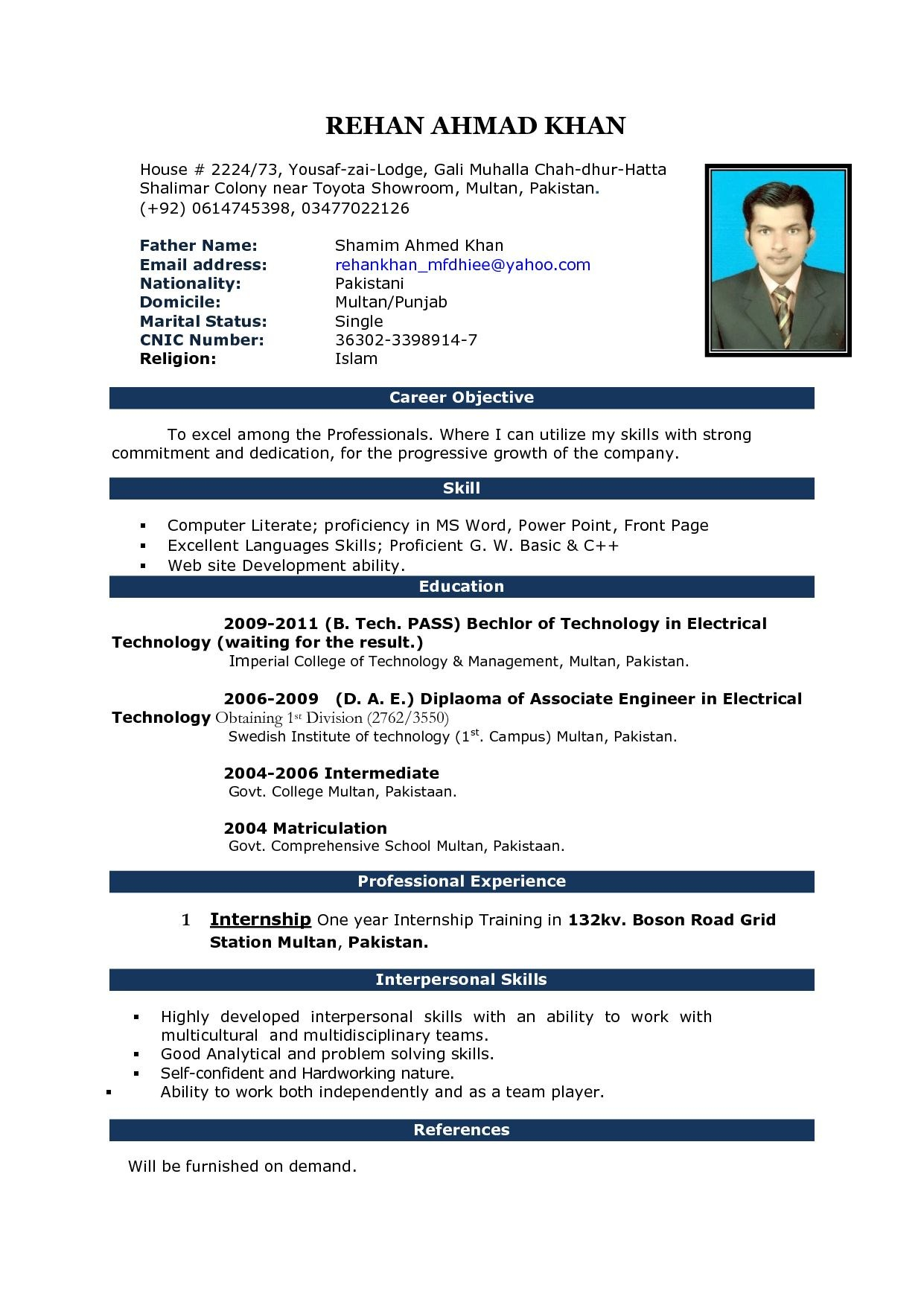Free Download Cv Format In Ms Word Fieldstationco Microsoft Office Within Microsoft Word Resume Template Free
