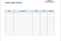 Free Download General Ledger Template Phenomenal Ideas Paper pertaining to Business Ledger Template Excel Free