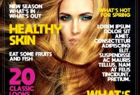 Free Download Magazine Template Psd  Freedownloadpsd for Blank Magazine Template Psd