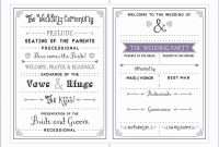 Free Downloadable Wedding Program Template That Can Be Printed throughout Free Printable Wedding Program Templates Word