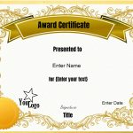 Free Editable Certificate Template  Customize Online  Print At Home intended for Certificate Templates