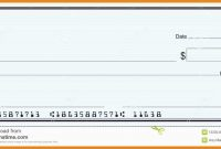 Free Editable Cheque Template Prettier  Blank Cheque Samples  Best inside Fun Blank Cheque Template