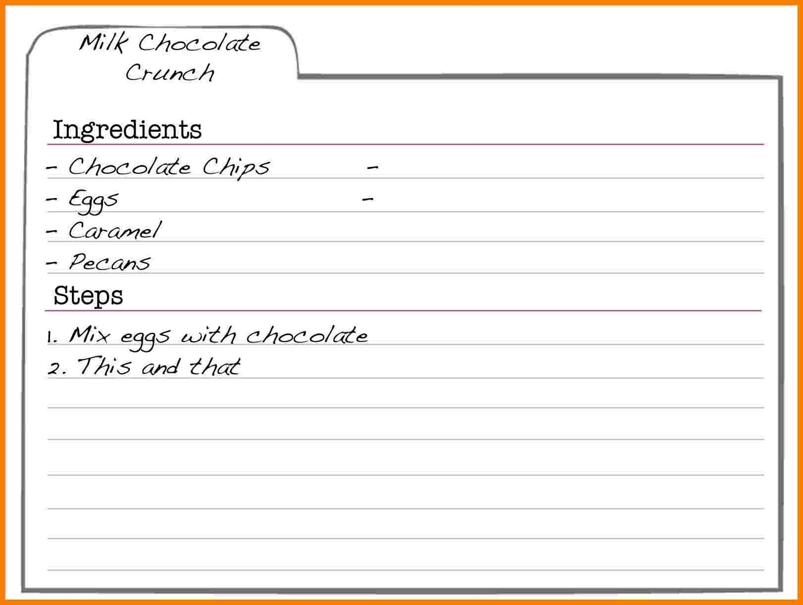 Free Editable Recipe Card Templates For Microsoft Word Ledger With Free Recipe Card Templates For Microsoft Word