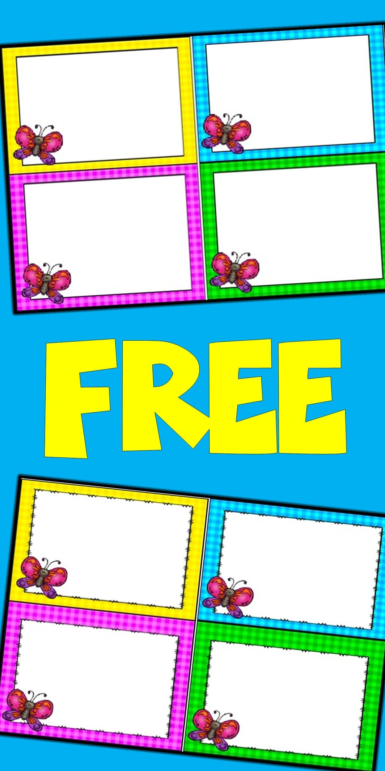Free Editable Spring Card Templates  Butterflies  Templates Intended For Task Cards Template