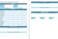 Free Employee Performance Review Templates  Smartsheet in Staff Progress Report Template