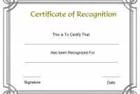 Free Employee Recognition Certificate Templates  My Blog with Generic Certificate Template
