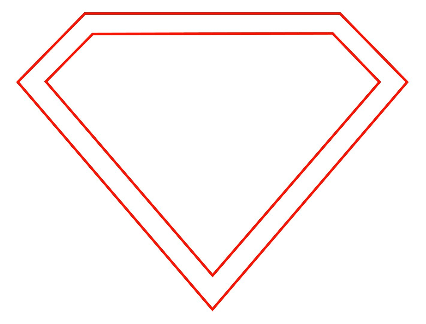 Free Empty Superman Logo Download Free Clip Art Free Clip Art On Within Blank Superman Logo Template