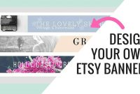 Free Etsy Banner Maker And Easy Tutorial Using Canva  Youtube with Free Etsy Banner Template