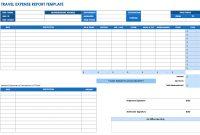 Free Expense Report Templates Smartsheet inside Expense Report Template Xls