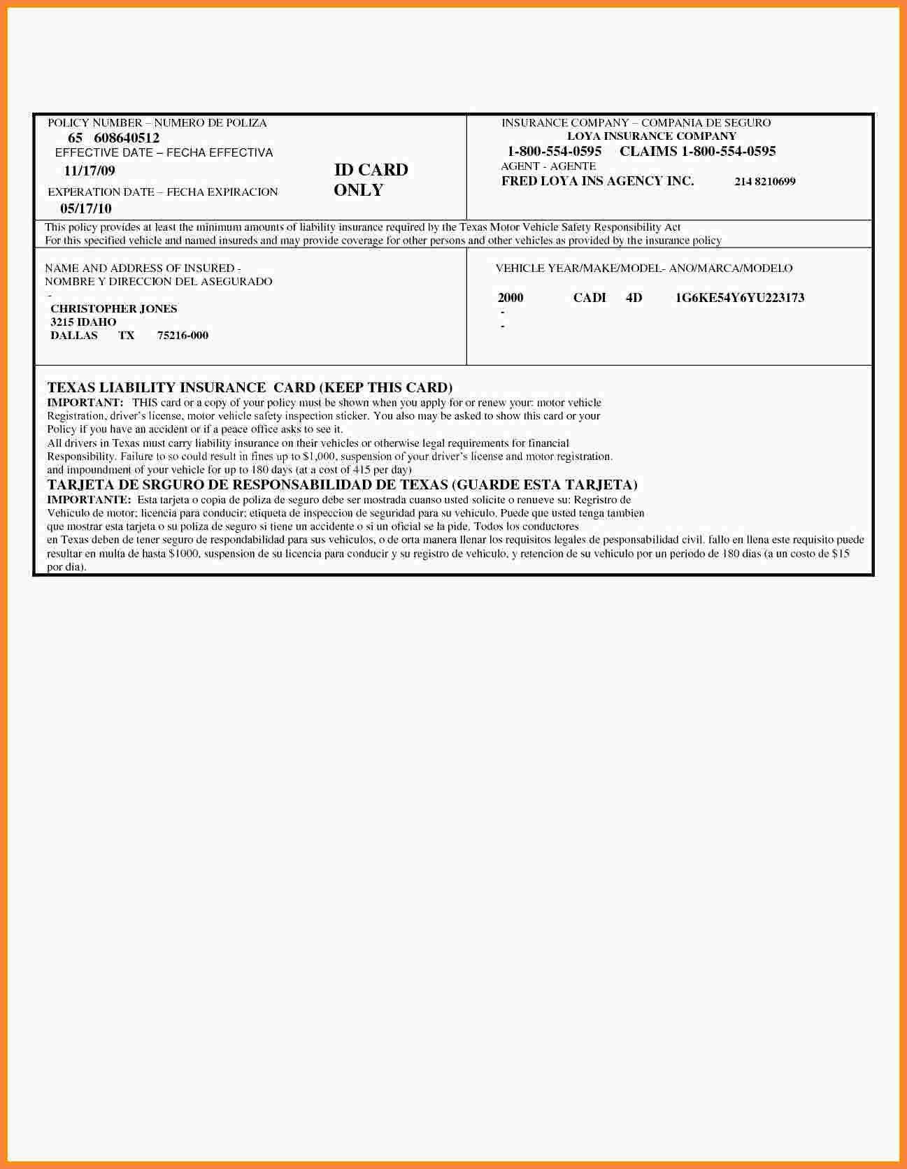 Free Fake Auto Insurance Card Template  Proposal Letter Throughout Free Fake Auto Insurance Card Template
