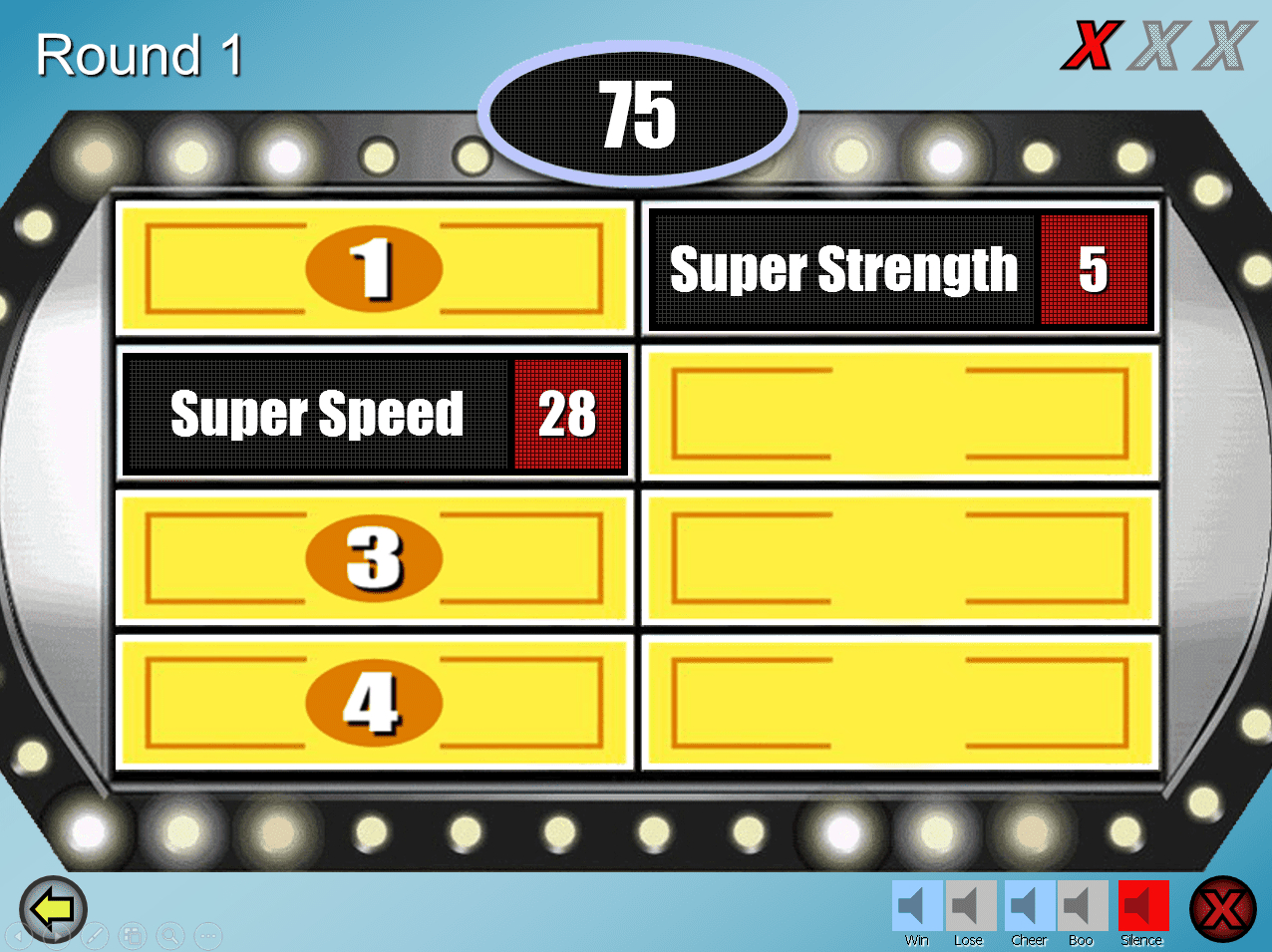 Free Family Feud Powerpoint Templates For Teachers Throughout Family Feud Game Template Powerpoint Free