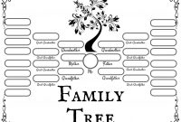 Free Family Tree Templates For Genealogy Craft Or School Projects with Fill In The Blank Family Tree Template