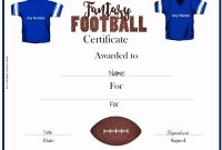 Free Fantasy Football Awards  Customize Online  Print within Football Certificate Template