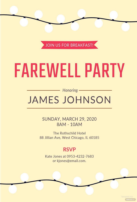Free Farewell Invitation Template Word Templates For Pertaining To Farewell Card Template Word