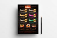 Free Fast Food Menu Template For Photoshop  Illustrator  Brandpacks in Fast Food Menu Design Templates