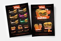 Free Fast Food Menu Template For Photoshop  Illustrator  Brandpacks within Fast Food Menu Design Templates