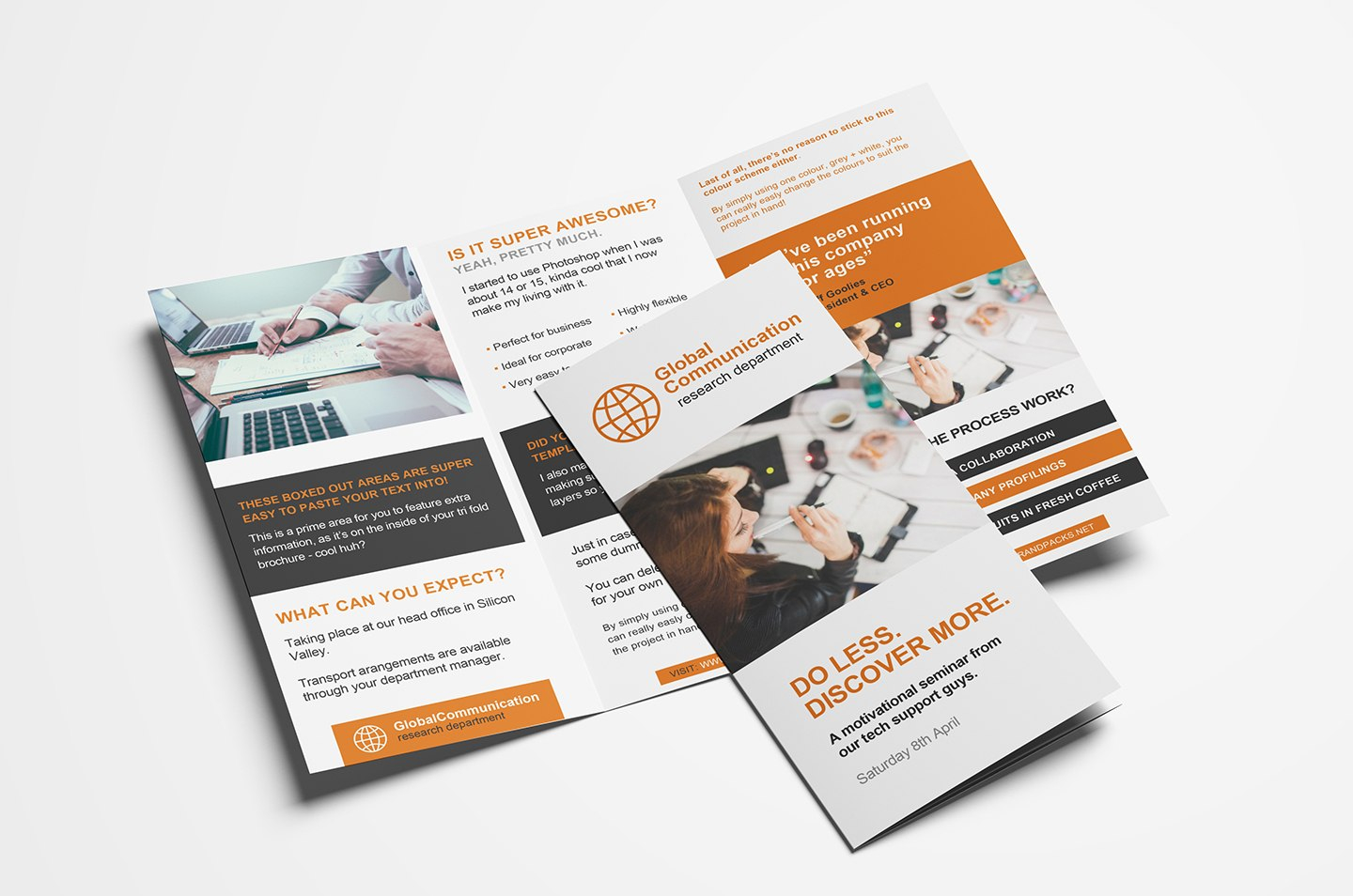 Free Fold Brochure Template For Photoshop  Illustrator  Brandpacks In One Page Brochure Template