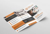 Free Fold Brochure Template For Photoshop  Illustrator  Brandpacks with Brochure Psd Template 3 Fold