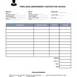 Free Freelance Independent Contractor Invoice Template  Word throughout 1099 Invoice Template