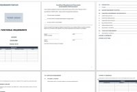 Free Functional Specification Templates  Smartsheet for Software Business Requirements Document Template