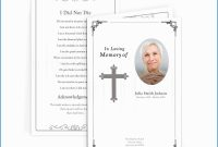Free Funeral Invitation Card Template Astonishing Traditional Cross with regard to Funeral Invitation Card Template