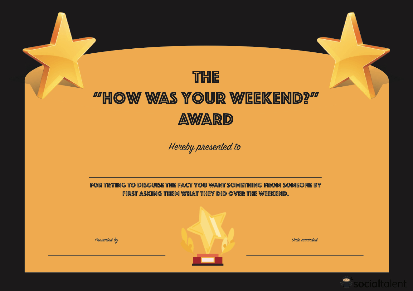 Free Funny Award Certificate Templates  Books Worth Reading  Award With Funny Certificate Templates