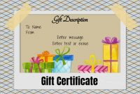 Free Gift Certificate Template   Designs  Customize Online And with regard to Kids Gift Certificate Template