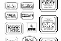 Free Harry Potter Hogwarts Express Ticket Template Plus Links To inside Potion Label Template