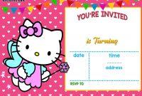 Free Hello Kitty Invitation  Free Printable Birthday Invitation for Hello Kitty Birthday Banner Template Free