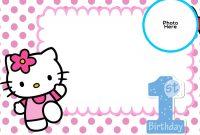 Free Hello Kitty St Birthday Invitation  Birthday Invitation inside Hello Kitty Birthday Card Template Free