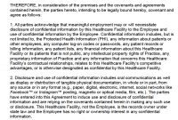 Free Hipaa Employee Nondisclosure Agreement Nda Template  Pdf regarding Word Employee Confidentiality Agreement Templates