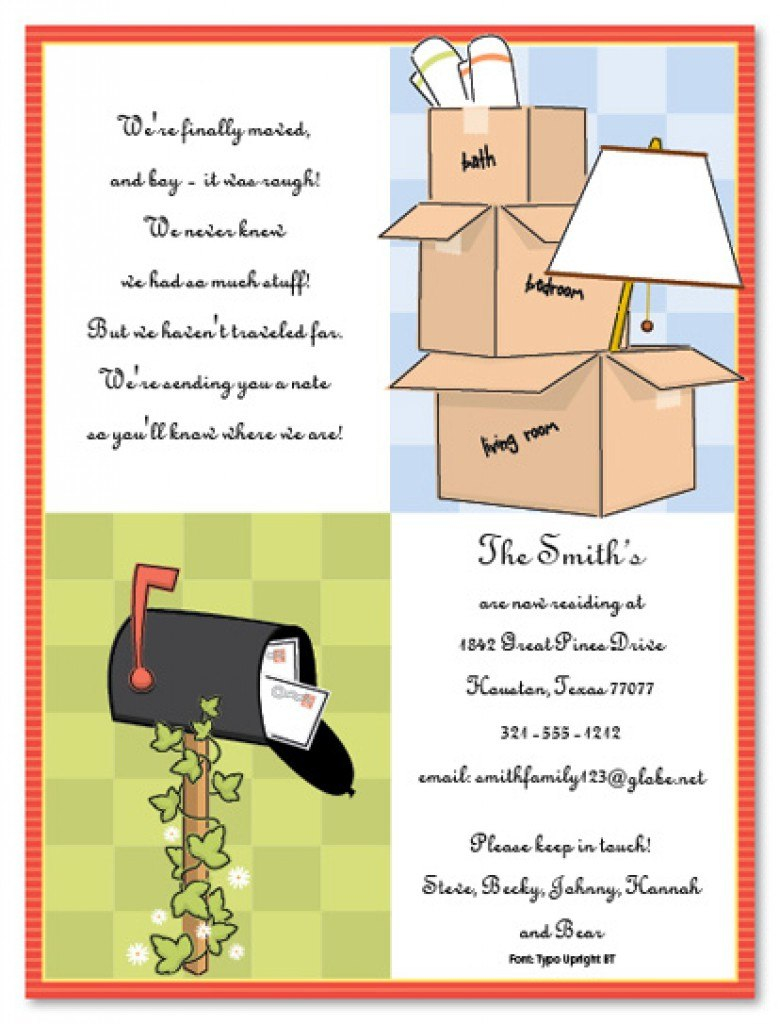 Free Housewarming Invitation Templates Printable Party Throughout Moving House Cards Template Free