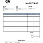 Free Hvac Invoice Template  Word  Pdf  Eforms – Free Fillable Forms throughout Air Conditioning Invoice Template