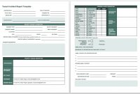 Free Incident Report Templates  Forms  Smartsheet in Monthly Health And Safety Report Template