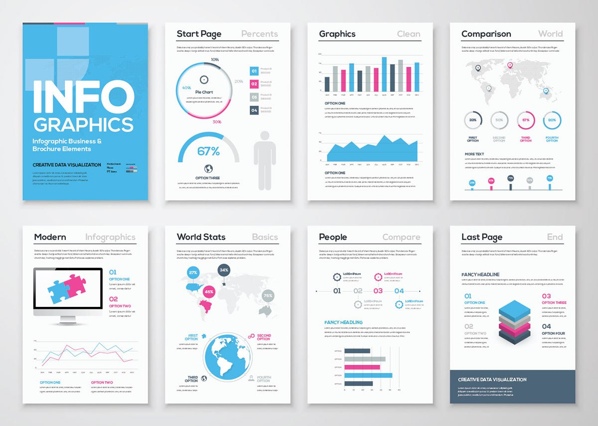Free Infographic Brochure Template  Ai On Behance In Adobe Illustrator Brochure Templates Free Download