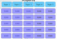 Free Jeopardy Templates For The Classroom in Jeopardy Powerpoint Template With Score