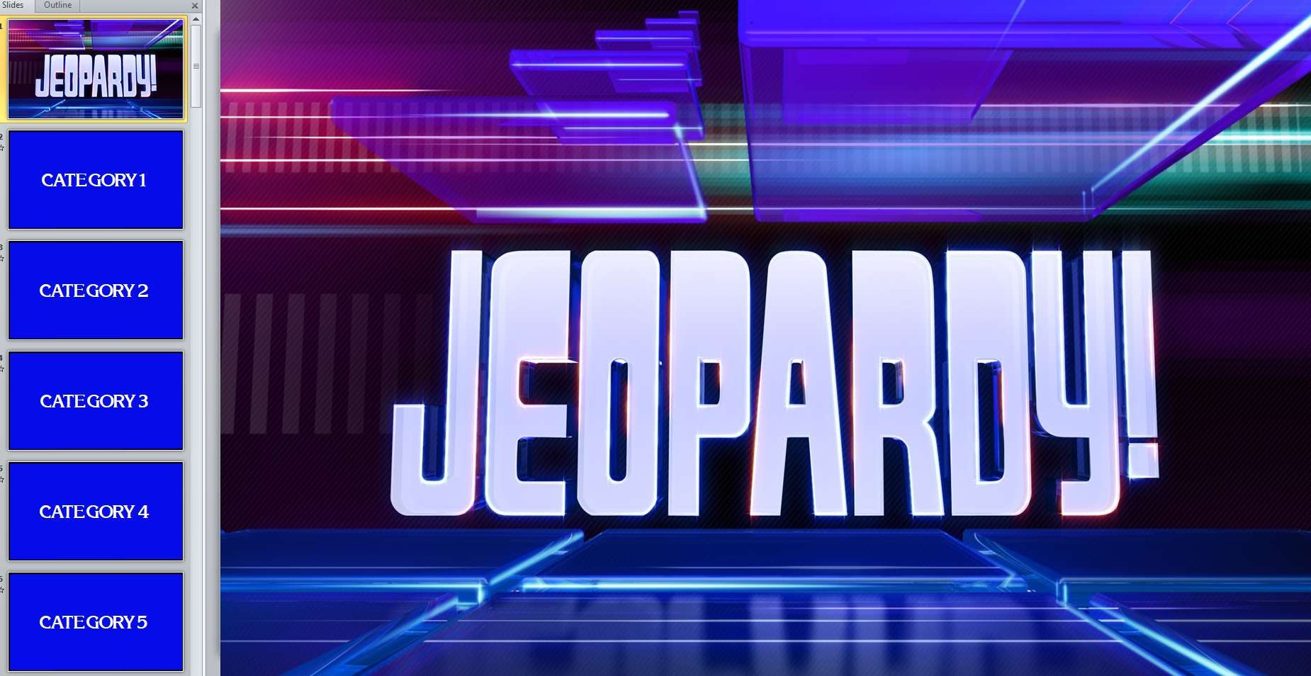 Free Jeopardy Templates For The Classroom Pertaining To Quiz Show Template Powerpoint